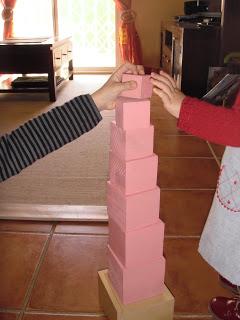 La torre rosa y las regletas Cuisenaire