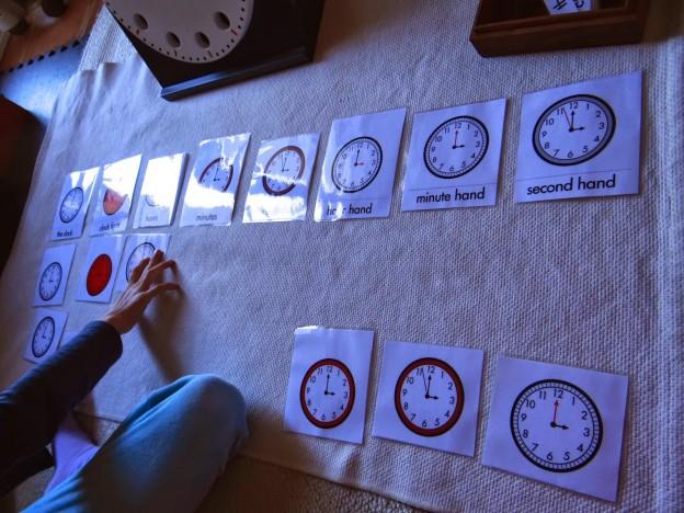 Tarjetas y ejercicios del reloj Montessori // Exercises and Cards of the Montessori's Clock