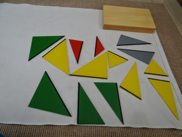 Triángulos Constructivos. Primera caja // Constructive triangles. First box.